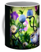 Poppy Pods And Curvy Stems. Coffee Mug