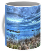 Poquoson Yacht On Stormy Morning Coffee Mug