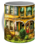 Porch - Cranford Nj - A Yellow Classic  Coffee Mug