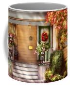 Porch - Cranford Nj - Simply Pink Coffee Mug by Mike Savad