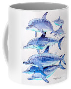 Porpoise Play Coffee Mug by Carey Chen