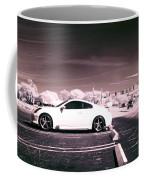 Porsche Car Side Profile Pink Near Infrared Coffee Mug