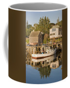 Port Clyde Maine Boats And Harbor Coffee Mug