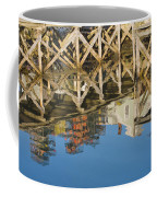 Port Clyde Maine Lobster Traps Reflecting In Water Coffee Mug
