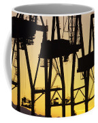 Port Of Seattle Cranes Silhouetted Coffee Mug