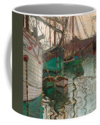Port Of Trieste Coffee Mug by Egon Schiele