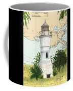 Port Pontchartrain Lighthouse La Chart Map Art Coffee Mug