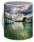 Storm Clouds Over  Port Royal Boathouses In Naples Coffee Mug