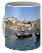 Port Wine Boats In Porto City Coffee Mug