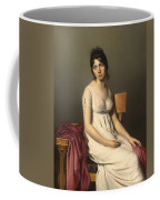 Portait Of A Young Woman In White Coffee Mug