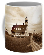 Portland Head Lighthouse In Sepia Coffee Mug