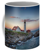 Portland Headlight Sunset Coffee Mug
