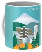 Portland Oregon Vertical Skyline Coffee Mug