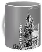 Portland Skyline Hollywood Theater - Pewter Coffee Mug
