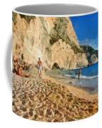 Porto Katsiki Beach In Lefkada Island Coffee Mug