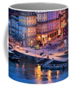 Porto Old Town In Portugal At Dusk Coffee Mug