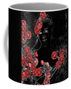 Portrait In Black - S0201b Coffee Mug by Variance Collections