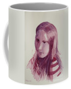 Portrait In Burgundy  Coffee Mug