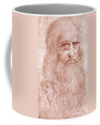 Portrait Of A Bearded Man Coffee Mug by Leonardo da Vinci
