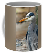 Portrait Of A Blue Heron Coffee Mug