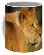 Portrait Of A Dreamy Lioness  Coffee Mug