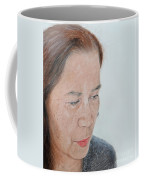 Portrait Of A Filipina In Thought  Coffee Mug by Jim Fitzpatrick
