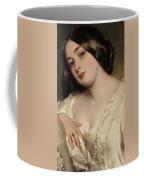 Portrait Of A Lady Coffee Mug by Franz Xaver Winterhalter