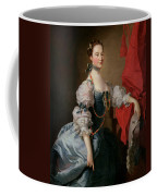 Portrait Of A Lady In A Blue Gown Coffee Mug