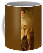Portrait Of A Lady In A White Dress Coffee Mug by George Elgar Hicks