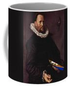 Portrait Of A Man Holding A Skull 1612 Coffee Mug