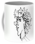 Portrait Of A Man Coffee Mug by Michelle Calkins