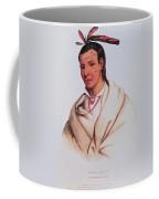 Portrait Of A-mis-quam, A Winnebago Brave Coloured Engraving Coffee Mug