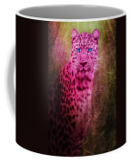 Portrait Of A Pink Leopard Coffee Mug