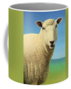 Portrait Of A Sheep Coffee Mug by James W Johnson