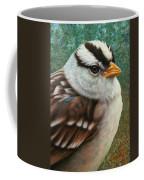 Portrait Of A Sparrow Coffee Mug by James W Johnson