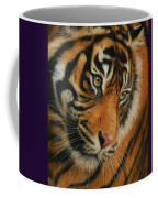 Portrait Of A Tiger Coffee Mug by David Stribbling