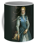 Portrait Of A Woman With A Dog Coffee Mug