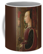 Portrait Of A Woman With A Man At A Casement Coffee Mug