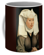 Portrait Of A Woman With A Winged Bonnet Coffee Mug