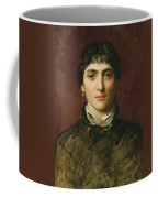 Portrait Of A Woman With Dark Hair Coffee Mug