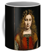 Portrait Of A Youth Crowned With Flowers Coffee Mug by Giovanni Antonio Boltraffio