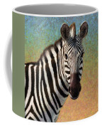 Portrait Of A Zebra - Square Coffee Mug