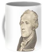 Portrait Of Alexander Hamilton On White Background Coffee Mug