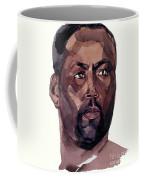 Watercolor Portrait Of An Athlete Coffee Mug