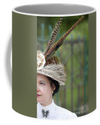 Portrait Of An Edwardian Woman With Feathered Hat Coffee Mug