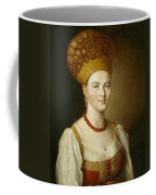 Portrait Of An Unknown Woman In Russian Costume Coffee Mug