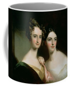 Portrait Of Ellen And Mary Mcilvaine, 1834 Oil On Canvas Coffee Mug