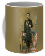 Portrait Of Emperor Nicholas II 1868-1918 1895 Oil On Canvas Coffee Mug