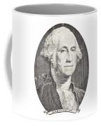 Portrait Of George Washington On White Background Coffee Mug