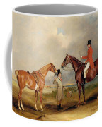 Portrait Of John Drummond On A Hunter With A Groom Holding His Second Horse Coffee Mug